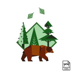 Brown bear - Vector graphics